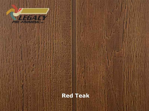 Allura Prefinished Vertical Panel Siding - Red Teak