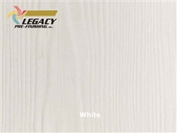 Allura Prefinished Vertical Panel Siding - White