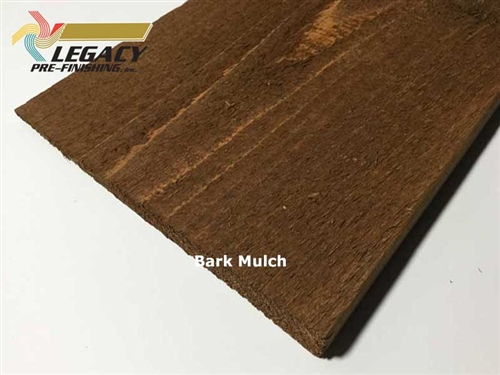 Prefinished Cedar Plain Bevel Siding - Bark Mulch Stain