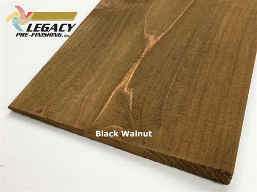Prefinished Cedar Bevel Siding - Black Walnut Stain