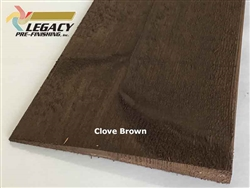 Prefinished Cedar Bevel Siding - Clove Brown Stain