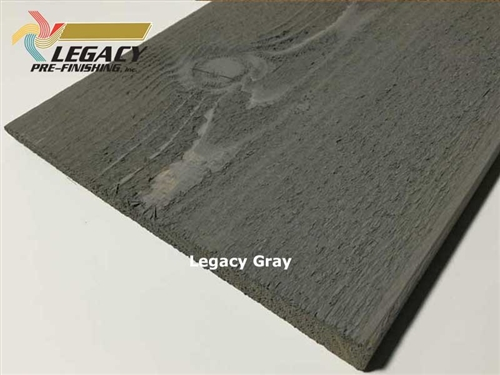 Prefinished Cedar Plain Bevel Siding - Legacy Gray Stain