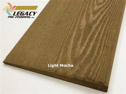 Prefinished Cedar Plain Bevel Siding - Light Mocha Stain