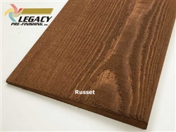 Prefinished Cedar Bevel Siding - Russet Stain