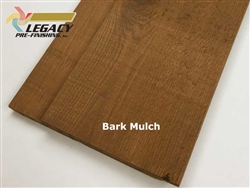 Prefinished Cedar Channel Rustic Siding - Bark Mulch Stain