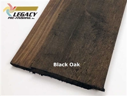 Prefinished Cedar Channel Rustic Siding - Black Oak Stain