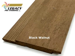 Prefinished Cedar Channel Rustic Siding - Black Walnut Stain