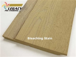 Prefinished Cedar Channel Rustic Siding - Bleaching Stain
