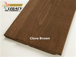 Prefinished Cedar Channel Rustic Siding - Clove Brown Stain
