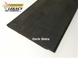 Prefinished Cedar Channel Rustic Siding - Dark Slate Stain