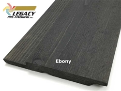 Prefinished Cedar Channel Rustic Siding - Ebony Stain