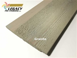 Prefinished Cedar Channel Rustic Siding - Granite