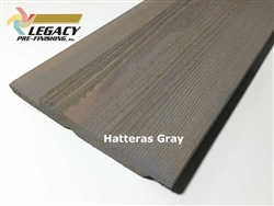 Prefinished Cedar Channel Rustic Siding - Hatteras Gray