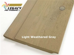 Prefinished Cedar Channel Rustic Siding - Light Weathered Gray Stain