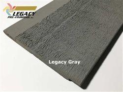 Prefinished Cedar Channel Rustic Siding - Legacy Gray Stain