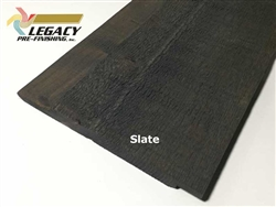 Prefinished Cedar Channel Rustic Siding - Slate