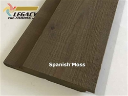 Prefinished Cedar Channel Rustic Siding - Spanish Moss Stain