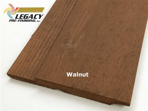 Prefinished Cedar Channel Rustic Siding - Walnut Stain