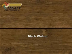 Prefinished Cedar Shiplap Siding - Black Walnut Stain