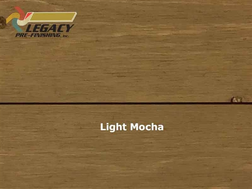 Cedar Prefinished Exterior Shiplap Siding - Light Mocha