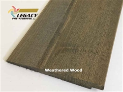 Prefinished Cedar Rabbeted Bevel Siding - Weathered Wood Stain