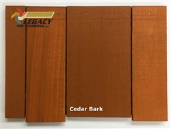 Cedar Valley Shingle Panel, Pre-Finished - Cedar Bark Stain