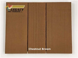 Cedar Valley Shingle Panel, Pre-Finished - Chestnut Brown