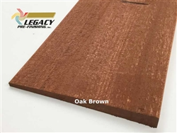 Prefinished Cypress Bevel Siding - Oak Brown Semi-Solid Stain