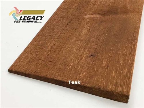 Prefinished Cypress Bevel Siding - Teak Semi-Transparent Stain