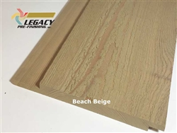 Prefinished Cypress Channel Rustic Siding - Beach Beige Stain