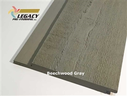Prefinished Cypress Channel Rustic Siding - Beechwood Gray Stain