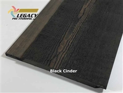 Prefinished Cypress Channel Rustic Siding - Black Cinder Stain