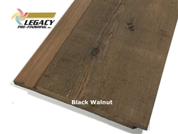 Prefinished Cypress Channel Rustic Siding - Black Walnut Stain