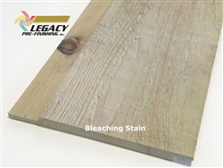 Prefinished Cypress Channel Rustic Siding - Bleaching Stain