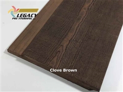 Prefinished Cypress Channel Rustic Siding - Clove Brown Stain