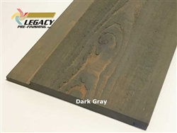 Prefinished Cypress Channel Rustic Siding - Dark Gray Stain