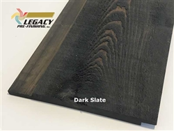 Prefinished Cypress Channel Rustic Siding - Dark Slate Stain