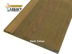 Prefinished Cypress Channel Rustic Siding - Dark Tahoe Stain