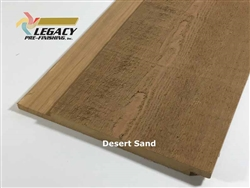 Prefinished Cypress Channel Rustic Siding - Desert Sand Stain