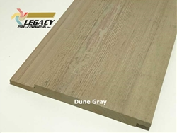 Prefinished Cypress Channel Rustic Siding - Dune Gray Stain