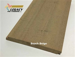 Prefinished Cypress Shiplap Siding - Beach Beige
