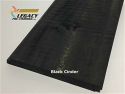 Prefinished Cypress Shiplap Siding - Black Cinder