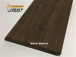 Prefinished Cypress Shiplap Siding - Black Walnut