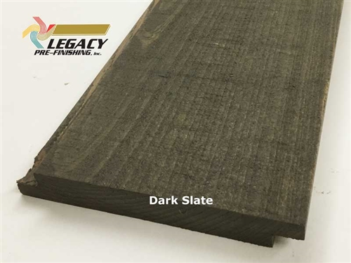 Prefinished Cypress Shiplap Siding - Dark Slate Stain