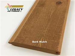 Prefinished Cypress Tongue And Groove Siding - Bark Mulch