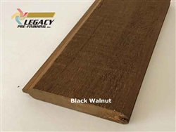 Prefinished Cypress Tongue And Groove Siding - Black Walnut