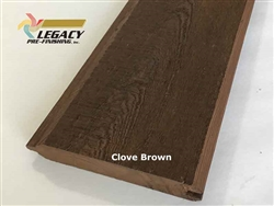 Prefinished Cypress Tongue And Groove Siding - Clove Brown