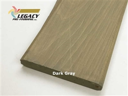 Prefinished Cypress Tongue And Groove Siding V-Joint - Dark Gray Stain