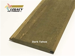 Prefinished Cypress Tongue And Groove Siding - Dark Tahoe Stain