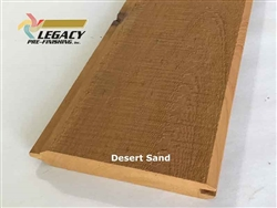Prefinished Cypress Tongue And Groove Siding - Desert Sand